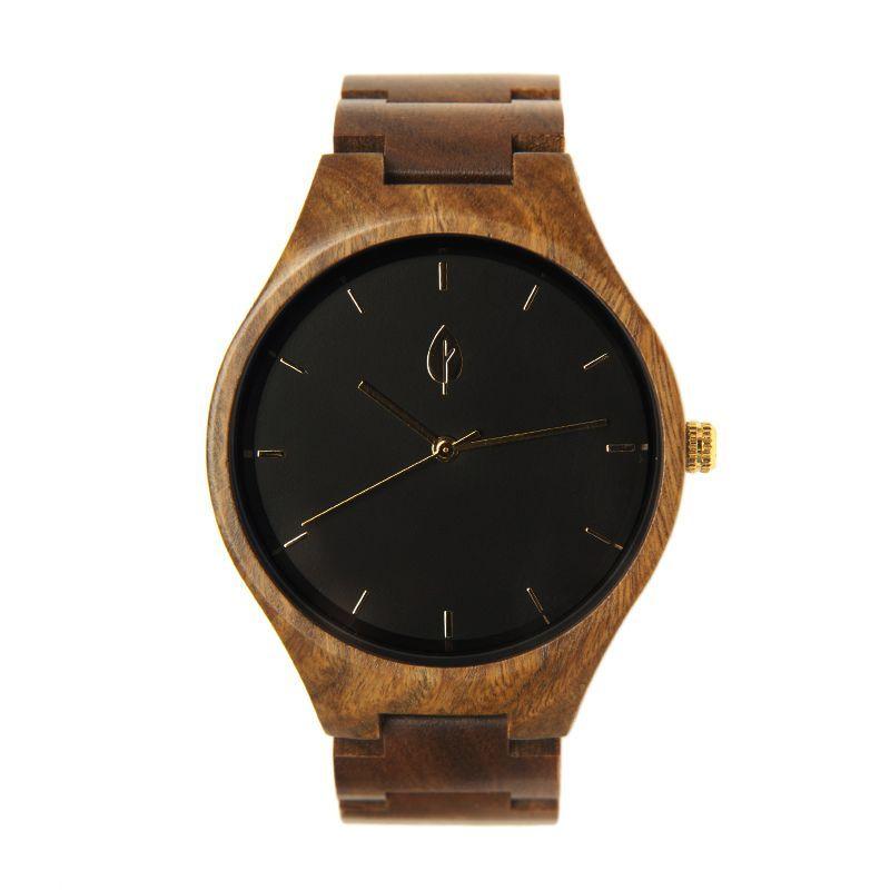 17fe3b07a454 Reloj de madera unisex EIXAMPLE GOLD - Fusta Culture