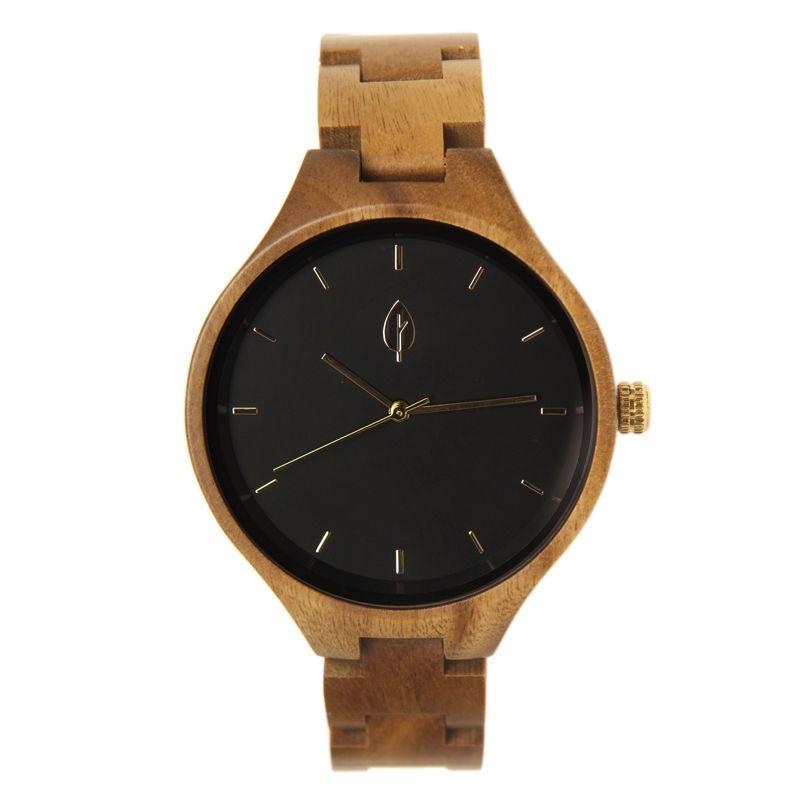 2d59c36c24ee Reloj femenino de madera de sándalo MARINA GOLD - Fusta Culture